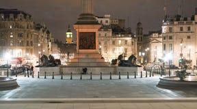 Trafalgar Londres cuadrado Imagen de archivo libre de regalías