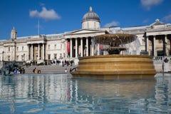 Trafalgar Londres quadrada Fotografia de Stock Royalty Free