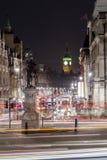 Trafalgar-Platz in London, Vereinigtes Königreich Stockfotografie