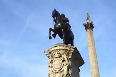 Trafalgar-Platz-Statue Stockbild