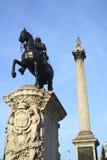 Trafalgar-Platz-Statue Stockfoto