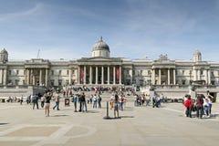 Trafalgar Quadrat, London Stockbilder
