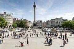 Trafalgar Quadrat, London Stockbild