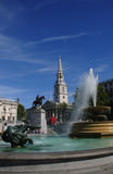 Trafalgar Square. A Shot of the cityscape of London 2009 Stock Image