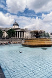 Trafalgar Square. This stunning scene is Trafalgar Square in London, on an unusually sunny and glorious summer day Royalty Free Stock Photography