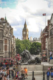Trafalgar Square and Big Ben, London Stock Photo