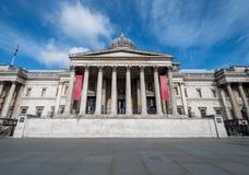 Trafalgar Square with blu sky in London stock photography