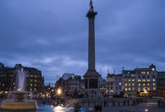 Trafalgar Square in the blue hour, London Stock Photography
