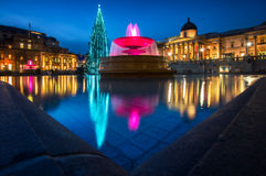 Trafalgar Square Christmas in London, England Royalty Free Stock Images