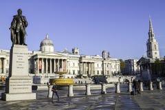 Trafalgar Square en Londres, Inglaterra, Reino Unido Imagen de archivo libre de regalías