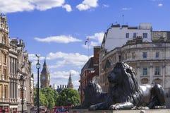 Trafalgar Square et Big Ben Images libres de droits