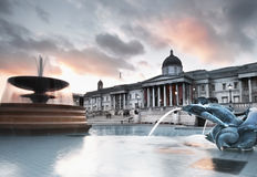 Trafalgar Square in the evening Royalty Free Stock Photos