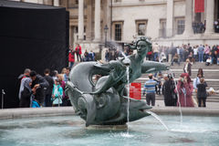 Trafalgar Square fountain Royalty Free Stock Photos