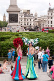 Trafalgar Square giant maze. Stock Photography
