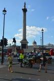 Trafalgar Square i London UK Arkivfoton