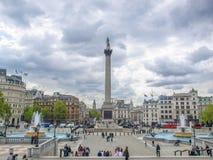 Trafalgar Square Londen Royalty-vrije Stock Foto