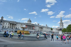 Trafalgar Square Londen - Engeland het Verenigd Koninkrijk Stock Fotografie