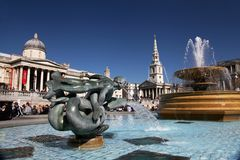 Trafalgar Square in London Royalty Free Stock Photos