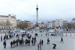 Trafalgar Square London Royaltyfria Foton