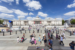 Trafalgar Square in London, editorial Royalty Free Stock Photos