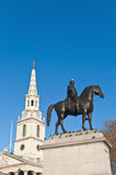 Trafalgar Square at London, England Royalty Free Stock Image