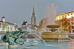 Trafalgar Square at London, England. Trafalgar Square located at London, England Royalty Free Stock Image