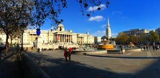 Trafalgar Square London England Royaltyfri Fotografi