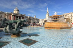 Trafalgar square in London Stock Images