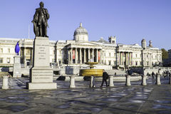 Trafalgar Square in London, England, UK royalty free stock image