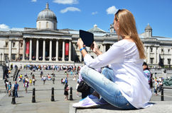 Trafalgar square in London Stock Image