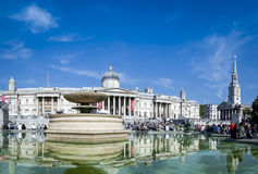 Trafalgar square london summer day uk Royalty Free Stock Images