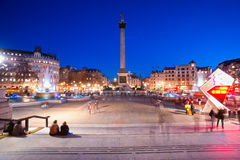 trafalgar square, London, UK. Royalty Free Stock Images