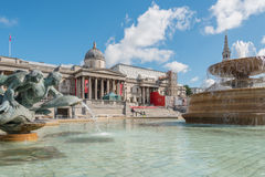 Trafalgar Square in London, UK Royalty Free Stock Photos
