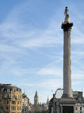 Trafalgar Square, London. UK. Trafalgar Square, with Nelsons column to the front and the Big Ben in the background Royalty Free Stock Photography