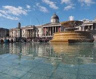 Trafalgar Square in London Royalty Free Stock Photography