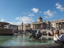 Trafalgar Square in London Stock Photos