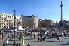 Trafalgar Square in London Stock Photos