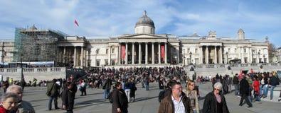 Trafalgar square - National Gallery Stock Image