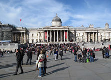 Trafalgar square - National Gallery Royalty Free Stock Photography