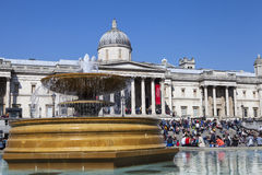 Trafalgar Square and the National Gallery in London Royalty Free Stock Images