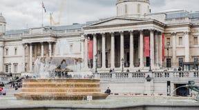 Trafalgar Square and National Gallery Stock Photos