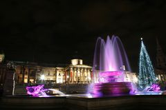 Trafalgar Square at Night Royalty Free Stock Photos