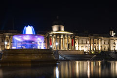 Trafalgar Square at night Stock Image