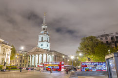 Trafalgar Square at night, London Stock Photos