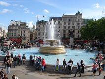 Trafalgar Square. One of the fountains in Trafalgar Square, London Royalty Free Stock Images