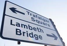 Trafalgar Square road sign Royalty Free Stock Photos
