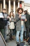 Trafalgar Square samlar Royaltyfri Foto