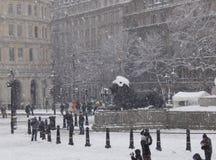Trafalgar square snow III Royalty Free Stock Photos