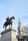 Trafalgar Square statue Royalty Free Stock Image