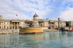 Trafalgar Square, Summertime, London Stock Photography